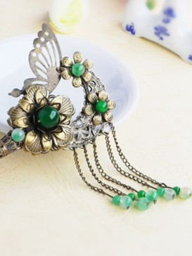 Ancient China style Green Butterfly Hair Pin