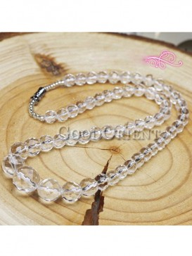 Transparent crystal necklace pendant for women.