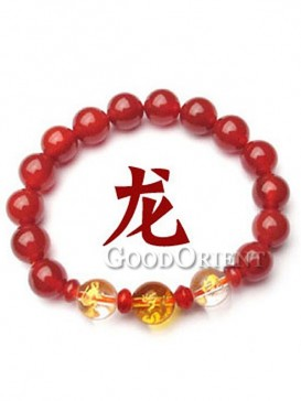 Turning Luck Red Agate Bracelet