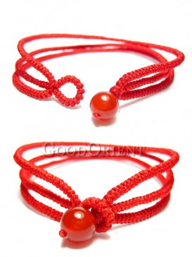 Vows of Love Red color Agate Bracelet
