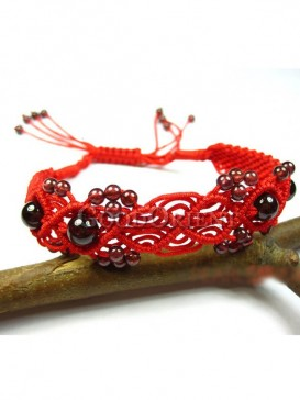 Red and Black color with Garnet Bracelet