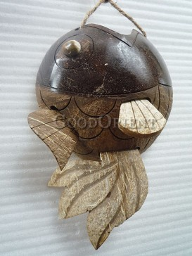 Coconut Shell of Fish Design