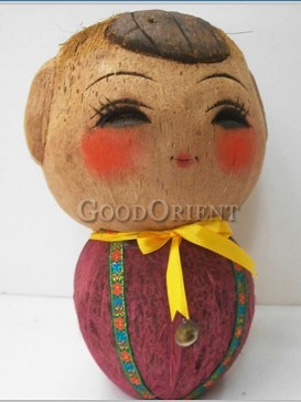 A Lovely Boy Coconut Shell Design