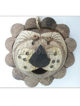 Coconut Shell Lion Design