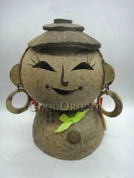 Doll Piggy Bank Coconut Shell