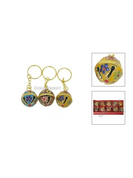 Cloisonne Bell Key Chain