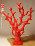 Red Chinese porcelain coral tree brings wealth