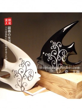 Kissing Fish Chinese Porcelain Home Decoration