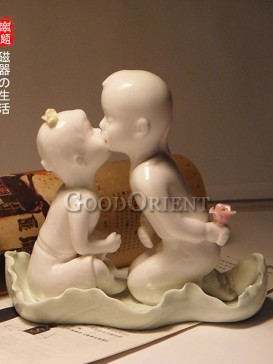 White Chinese porcelain figurine
