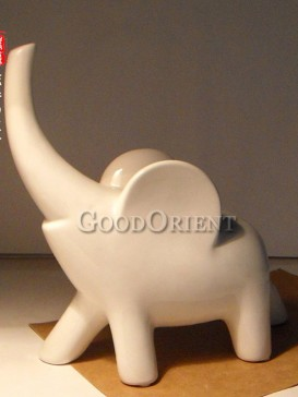 White Chinese porcelain Elephant