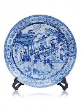 Blue with White Decorative plate decoration