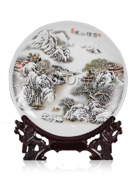 Decorative plate of Chinese porcelain