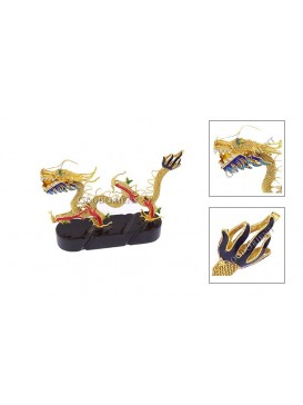 Yellow Marching Dragon Ornament