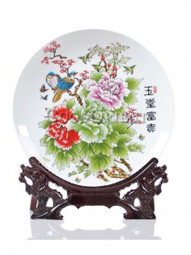 Wealthy Peony decorative plate
