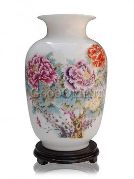 Luxury Hand Painted Peony Chinese Porcelain Home Decor