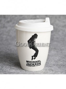 Coffee cup with Michael Jackson design