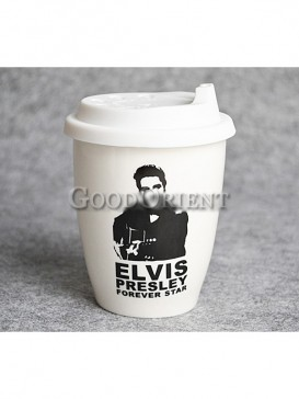 Coffee cup with Elvis Presley design