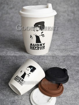 Coffee Cup with Audry Hepbum design