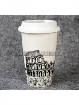 Coffee Cup with Rome Colosseum design