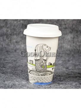 Coffee Cup with Merlion of Singapore design