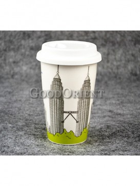 Coffee Cup with Petronas Towers design