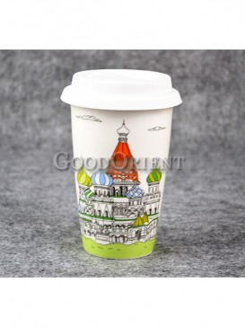 Coffee Cup with Saint Basil's Cathedral in Moscow design
