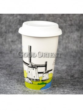 Coffee Cup with Netherland windmills design