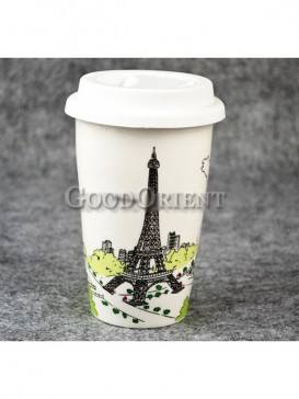 Coffee Cup with Eiffel tower design
