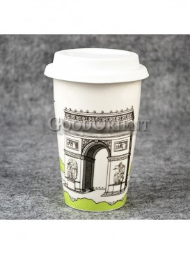 Coffee Cup with Triumphal Arch design