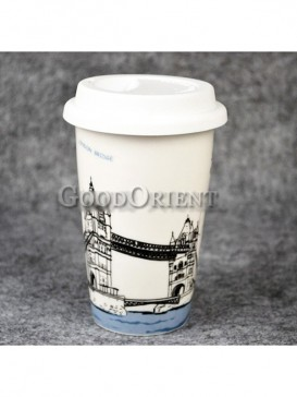 Coffee Cup with Tower Bridge of London design