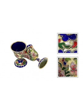 Floral Handless Wine Cup---Large Size