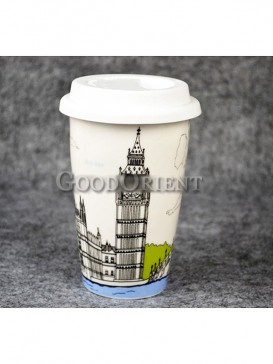 Coffee Cup with Clock Tower of London design