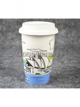 Coffee Mug with Sydney Australia Opera House design
