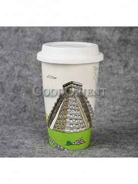 Coffee Mug with Maya Pyramid design