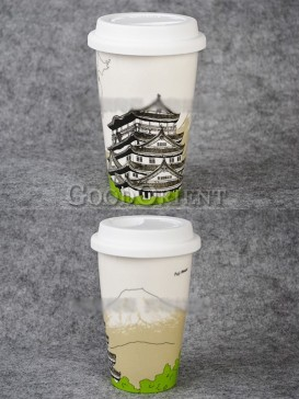 Coffee Mug with Mount Fuji design
