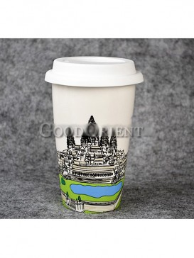 Coffee Mug with Ankor Wat of Cambodia design