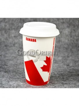 Coffee Cup with Flag of Canada design