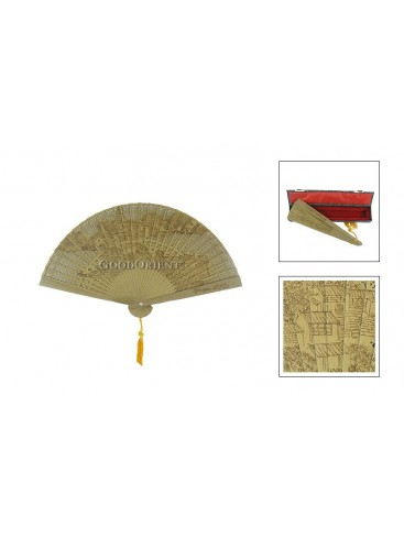 Chinese Handcraft Aloeswood Fan---House
