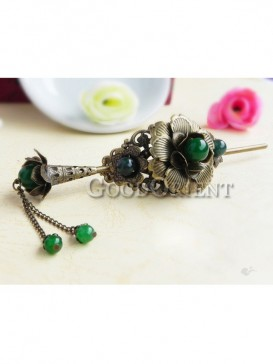 Green Ancient China style Hair Pin