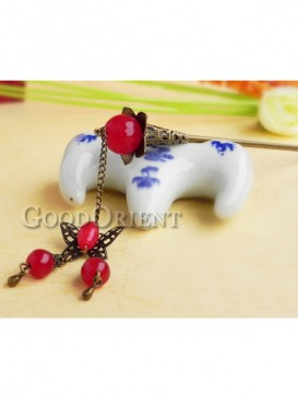 Red Ancient China style Hair Pin