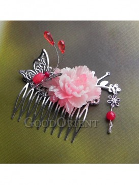 Butterfly & Peony Hair Accessories