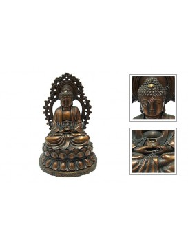 Red Brass Sakyamuni Sitting Statue