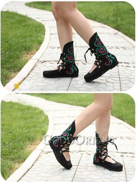 Chinese Ethnic Fashion Embroidered Boots