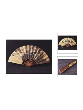 Big Carbaso Bamboo Fan---Dragon