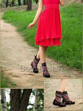 Handcrafted Multicolored Ethnic Boots