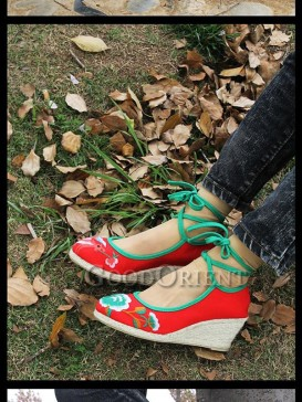 Red Ethnic Shoes