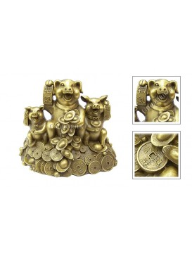 Brass Happy Pig