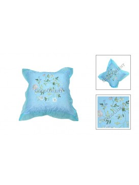 Beautiful Flower Cushion Cover---Pale Blue