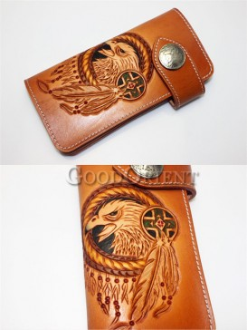 Eagle Logo Handcrafted Leather Men's Wallet