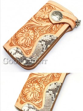 Khaki snakeskin of men's wallet